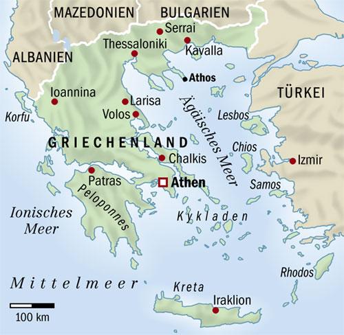 Mapa Recko Korfu Mapa