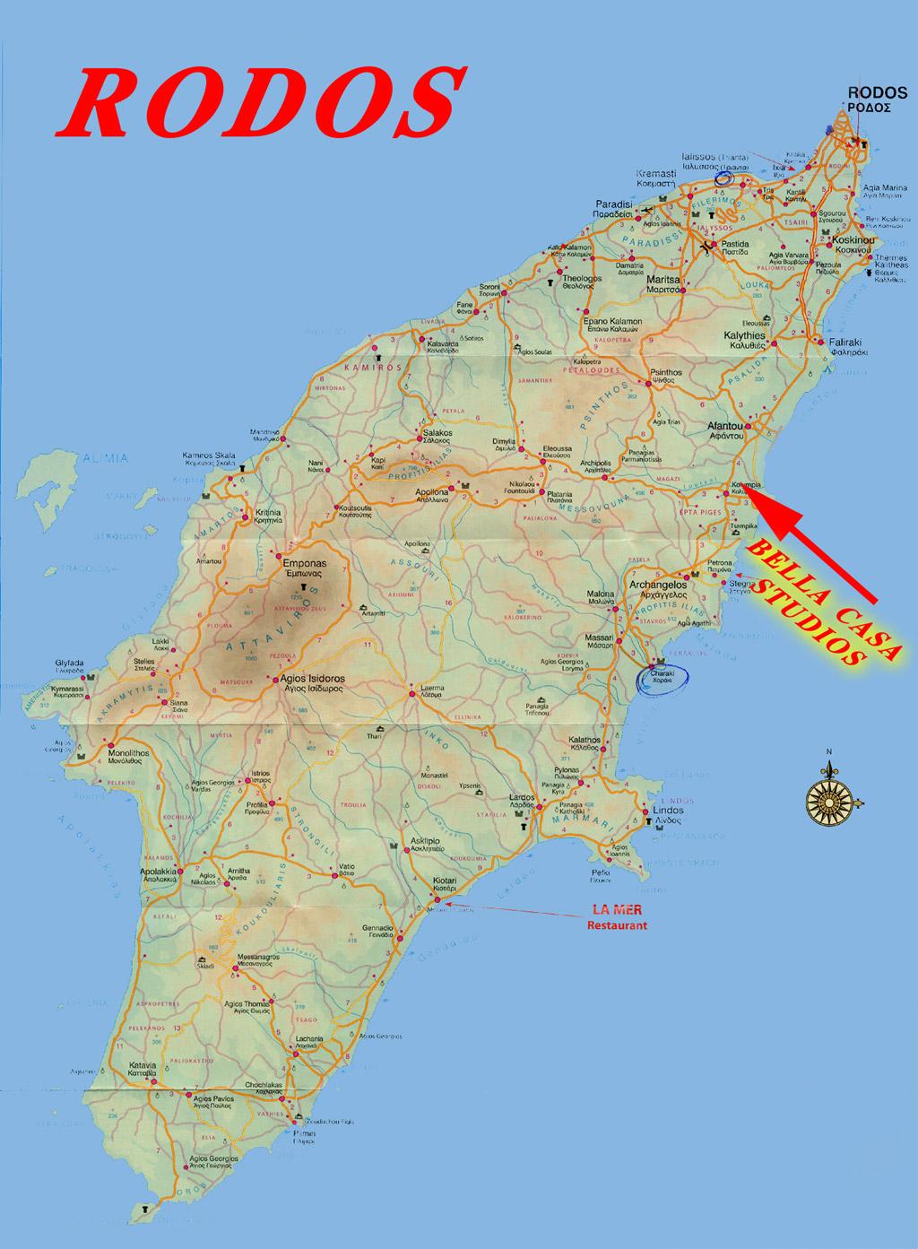 Recko Kompletni Pruvodce Rhodos Mapy Ostrova Rhodos